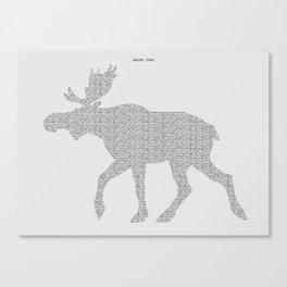 Moose Code Canvas Print