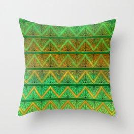 Green Jubilation Throw Pillow