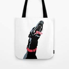 Levi the greyhound Tote Bag