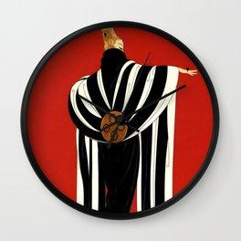 "Art Deco Illustration ""Monaco"" by Erté Wall Clock"