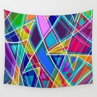 stained glass Wall Tapestries featuring Stained Glass by gretzky