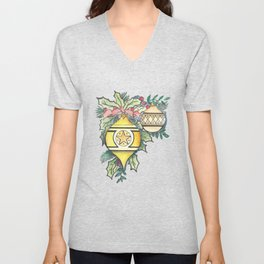 Evergreen and Gold III Unisex V-Neck