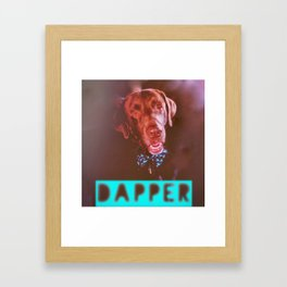 Dapper Dog Framed Art Print