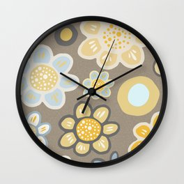 Big Bold Modern Floral No. 10 Wall Clock