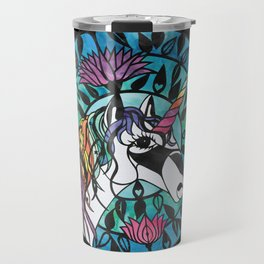 Unicorn - Paper cut design  Travel Mug