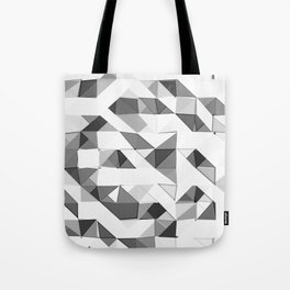 Triangular Deconstructionism Light Mono Tote Bag