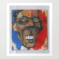 Obama Abstract Art Print