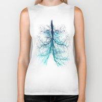 lungs Biker Tanks featuring Aqua Lungs by MUSENYO