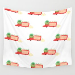 Red yeast pork truck Wall Tapestry