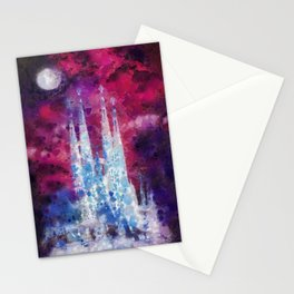 Barcelona Night Stationery Cards