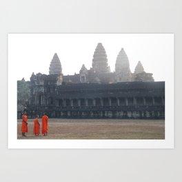 Three Monks Art Print