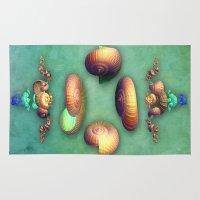 seashell Area & Throw Rugs featuring Seashell Fantasy by Lynn Bolt