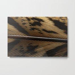 Pheasantfeather Metal Print