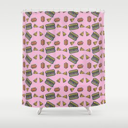 fast food pink Shower Curtain