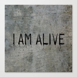I AM ALIVE - Black - Detroit: Become Human Deviant Writing Canvas Print