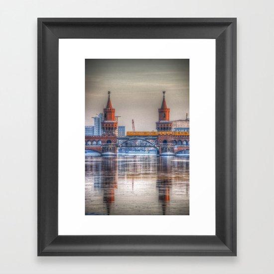 Frozen bridge Berlin Framed Art Print
