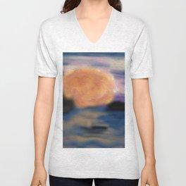 Abstract Sunset Unisex V-Neck