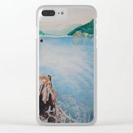 Oakridge Reservoir #4 watercolor painting Clear iPhone Case