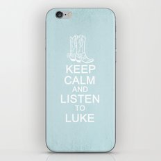 Keep Calm and Listen to Luke iPhone & iPod Skin