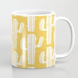 Mid Century Modern Desert Cactus Pattern 835 Yellow Coffee Mug