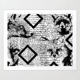 4Foxes Art Print