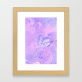 Daydreaming - Purple Framed Art Print