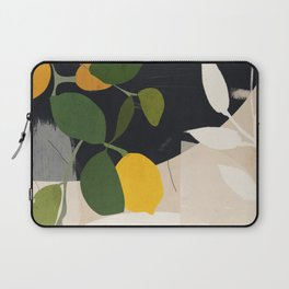 Lemon Abstract Art Laptop Sleeve