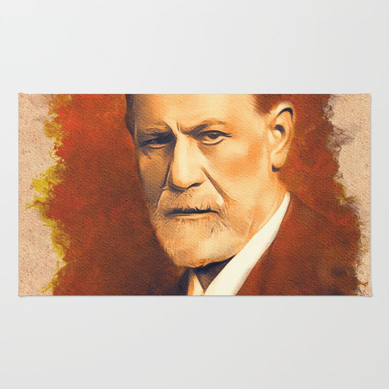 Sigmund Freud Rug by Esotericaartagency RUG8766408