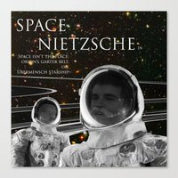nietzsche Canvas Prints featuring Space Nietzsche by Red Barchetta