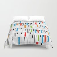 piano Duvet Covers featuring piano by mondebettina