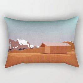 mountain landscape illustration - graphic art print Rectangular Pillow