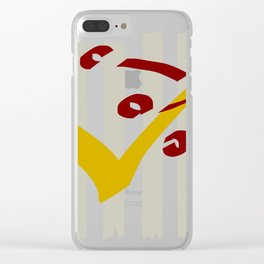 minimalist duo Clear iPhone Case