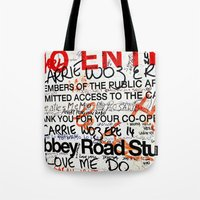 downton abbey Tote Bags featuring Abbey by JoFar