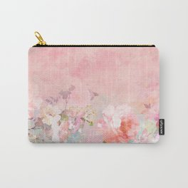 Modern blush watercolor ombre floral watercolor pattern Carry-All Pouch