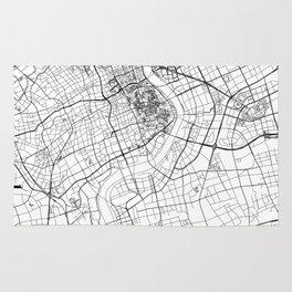 Shanghai White Map Rug