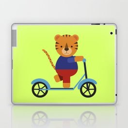 Tiger on Scooter Laptop & iPad Skin