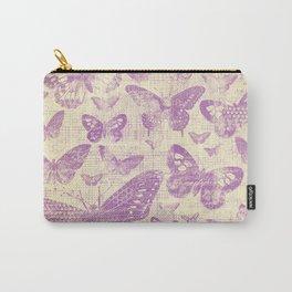 purple, vintage, butterflies, parchment Carry-All Pouch
