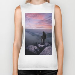 Lone Wolf at Sunset Ridge Biker Tank