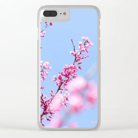 Spring in pink Clear iPhone Case
