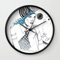 Mysterious Spin Wall Clock