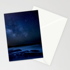 Dark Night California Coastal Waters Stationery Cards