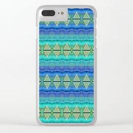 Undersea Neo Tribal Lush Geometric Clear iPhone Case