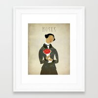 roses Framed Art Prints featuring ROSES by Beati