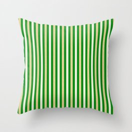 Green and Golden Vertical Throw Pillow