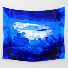cloudy sky blue turquoise splatter watercolor Wall Tapestry