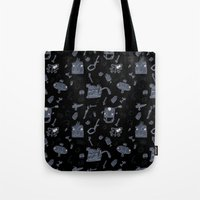 karma Tote Bags featuring Karma by tipa graphic