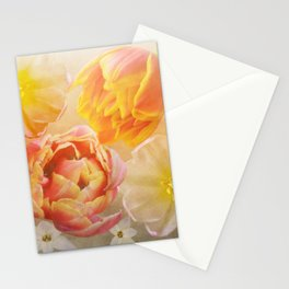 Tulips in pink, orange and yellow Stationery Cards