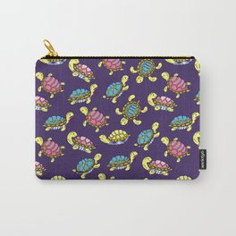 Turtles on purple Carry-All Pouch