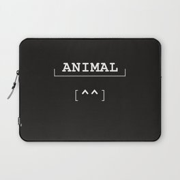 Animal - typography meets ascii art Laptop Sleeve