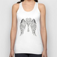 angel wings Tank Tops featuring Totally Tangled Angel Wings by Totally Tangled Creations